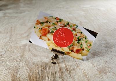 Cartão de visita do restaurante La pasta