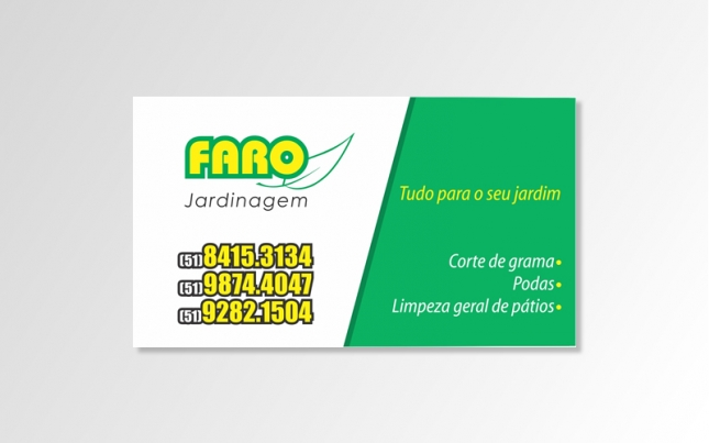 (Cartão de visita) Faro Jardinagem