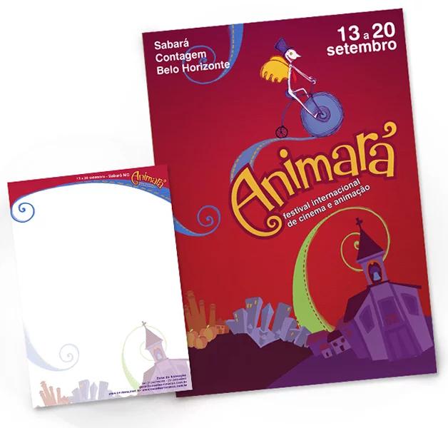Logo and Stationery Design Festival de Animação Animará