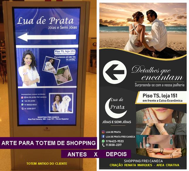 Totem de Loja para Shopping - Shopping Frei Caneca
