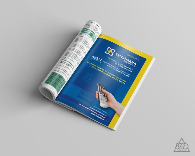 Verso Capa Revista LN | Cliente: Câmara Municipal