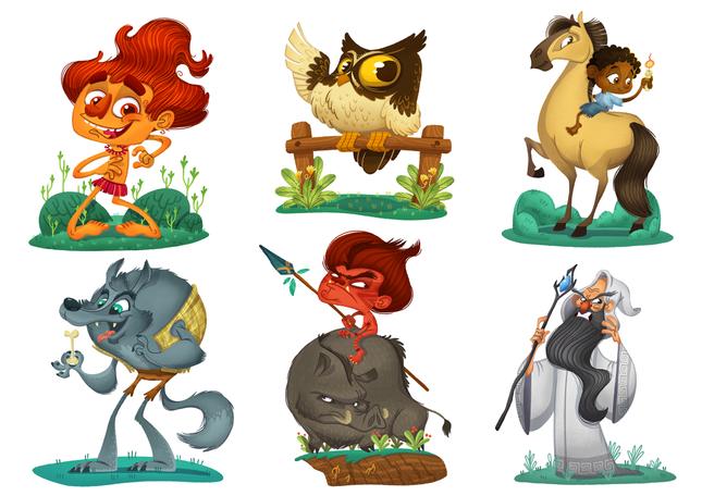 Sesc: personagens para evento Corrida das Lendas