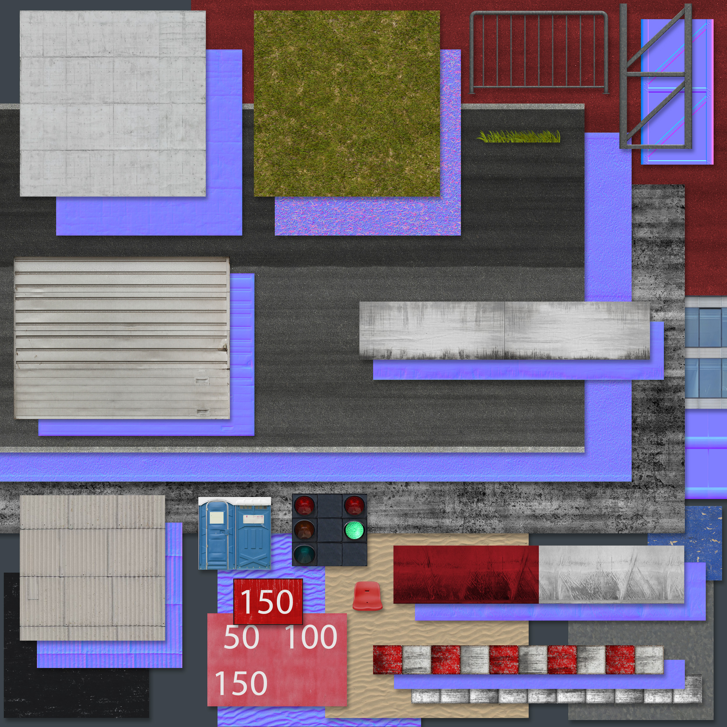 Algumas texturas utilizadas no projeto