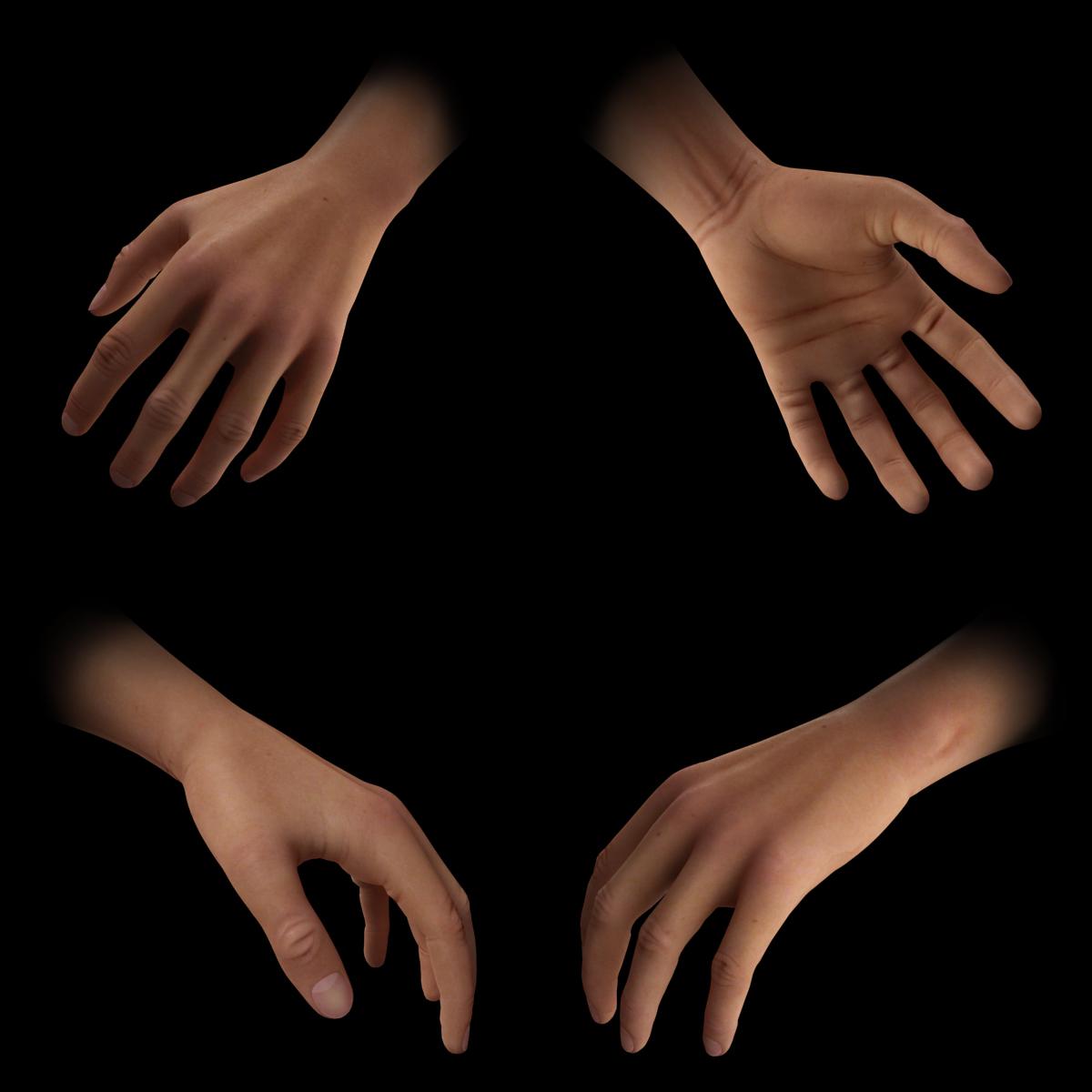 Highpoly - Detalhe mão