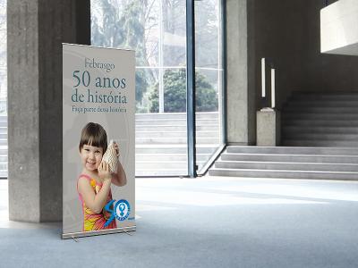 Livro 50 anos Febrasgo   Banner expositor