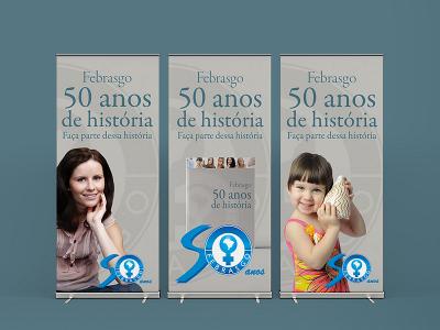 Livro 50 anos Febrasgo   Banners expositores