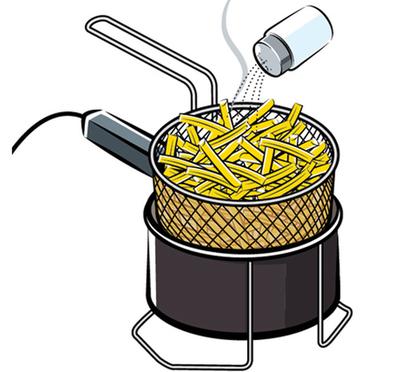 Back de embalagem - batata frita congelada - Qualitá