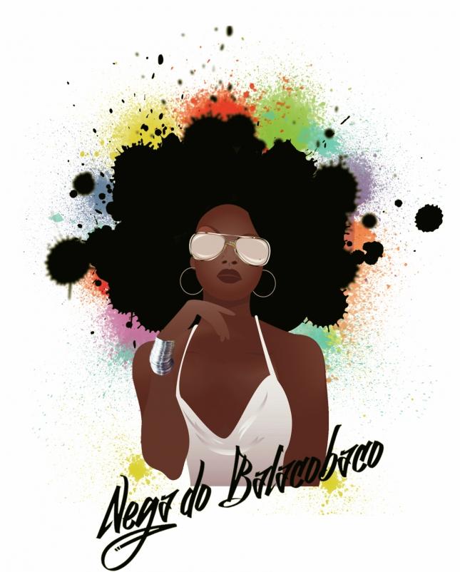 "Arte para o single ""Nega do Balacobaco"" do cantor P,10"