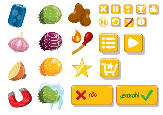 Fart Boy (mobile): itens e botões