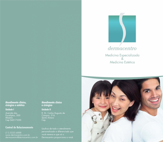 Cliente Dermacentro - Capa e Contracapa