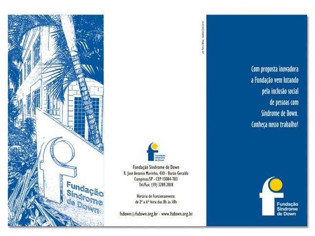 Folder institucional (frente/2 dobras)