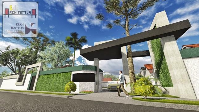 Portal de condomínio residencial em Piraquara - PR