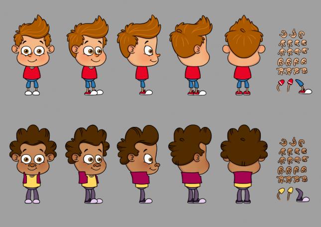 Amigossauro (design e sheet models): série animada