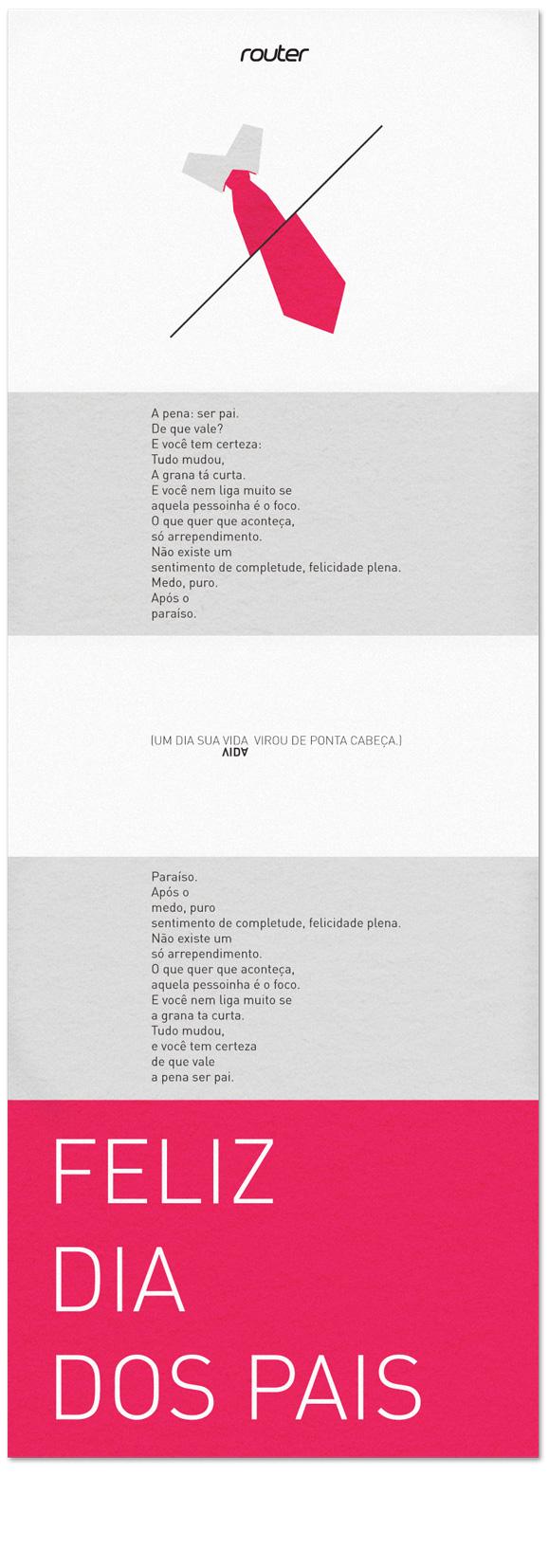 """""""Poema"""" dia dos pais com leitura dupla"""