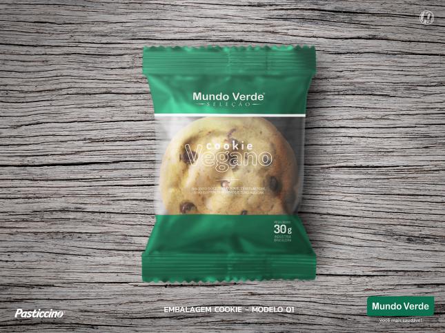 Amostra de embalagem: cookie tipo americano - Mundo Verde