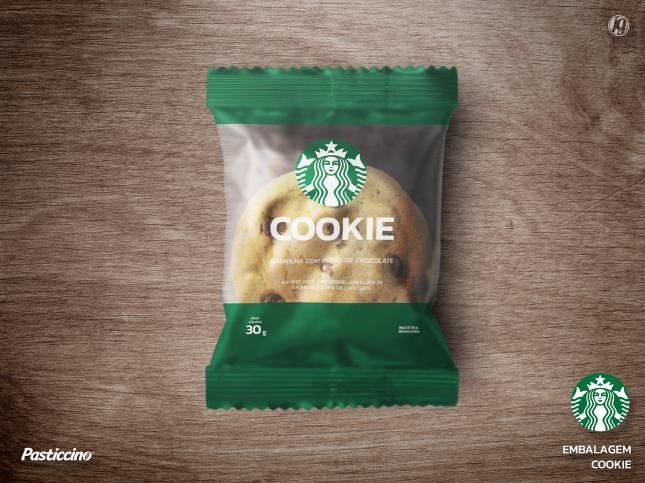Amostra de embalagem: cookie tipo americano - Starbucks