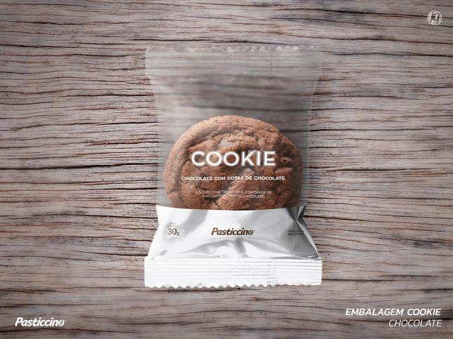 Desenvolvimento de embalagem: cookie tipo americano