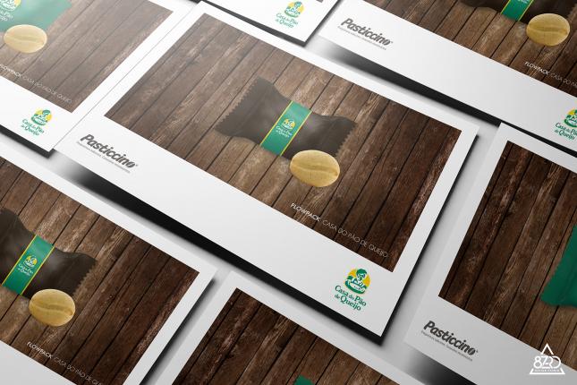 Amostra Flowpack embalagem para mini cookie