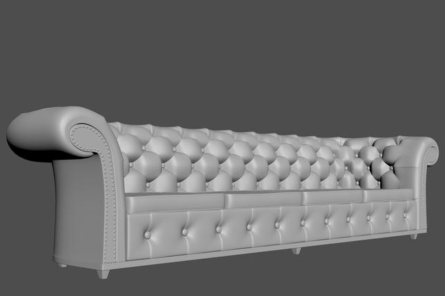 Estudo de modelagem realizado no 3ds Max